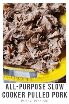 whole30 paleo slow cooker pulled pork