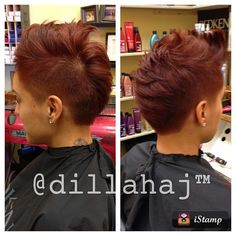 #hair #haircut #haicolor #redken #hairstyle #hairstylist #shorthair #shorthairstyle #shorthaircut #shorthairphotos #shorthairtrends #pixie #pixiehaircut #nothingbutpixies #chickhawk #chickfade #style #texture