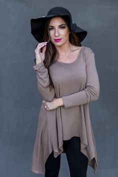 Keep It Neutral Tunic in Brown ($29 + Free Shipping on orders over $25)