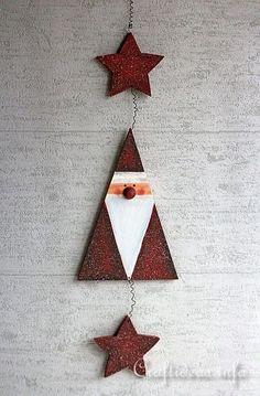 Wooden Santa Wall Decoration
