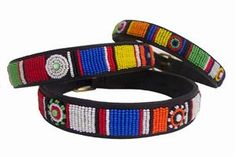 Circle of Life Beaded Kenyan Dog Collar - The beading is done by Maasai Mamas working in their home area. Averaging one collar per day, the mamas create these original, one-of-a-kind designs. Beaded Dog Collar, Types Of Dogs, Pet Id, Leather Dog Collars, Circle Of Life, Brass Buckle, Training Your Dog, Dog Supplies, Dog Care