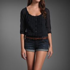 Abercrombie tucked into Abercrombie. My summer outfit.