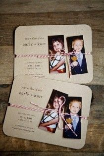 Creative Wedding Save The Dates.maybe do a baby pic and then do a grown up one
