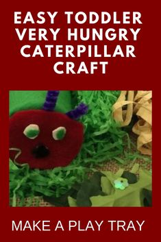 This easy craft for kids involves two things kids love - crafts & a play tray! Create your very own The Very Hungry Caterpillar and butterfly and fill a play tray for hours of fun! This caterpillar activity for kids is a great project on its own but also gives them a lovely homemade play tray to enjoy.      The craft itself is very easy to do and requires little materials. It is a cheap, fun and inexpensive craft that would be perfect for toddlers, pre-school and young child via…