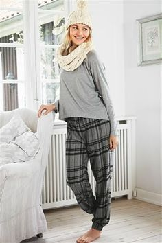 7427cf7d47 Buy Grey Check Pyjama Set from the Next UK online shop £30 Striped Pyjamas