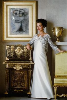 Lee Radziwill in gown by Lanvin, photo by Mark Shaw, 1962