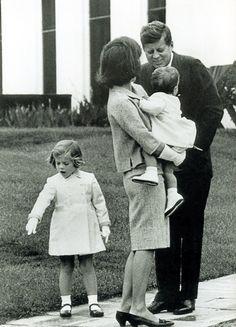 President John F Kennedy and family.