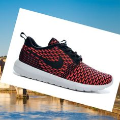 the latest 4a8be 02d30 Nike Roshe Run Flyknit Rosso Uomini Scarpe,Good quality!You are worthy to  wear it .