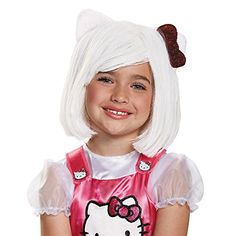 Disguise 88688CH Hello Kitty Child Wig Costume Child -- To view further for this item, visit the image link.Note:It is affiliate link to Amazon. #liking