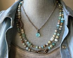 ORIGINAL bohemian beaded & leather jewelry by slashKnots on Etsy Mala Necklace Diy, Pearl Necklace, Leather Jewelry, Bohemian, Pearls, Trending Outfits, The Originals, Unique Jewelry, Handmade Gifts