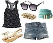 Floral tank with denim shorts and sandals!