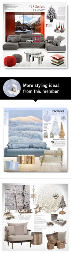 """""""Winter Harmony"""" by snowbell on Polyvore featuring interior, interiors, interior design, home, home decor, interior decorating and PUR"""