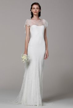 Brides.com: Lace Wedding Dresses from Spring 2013. Lace Wedding Dress: Marchesa. Chloe, $5,995, Marchesa  See more Marchesa wedding dresses