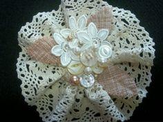 Lace Bridal Hair Clip Country Bride Rustic by BijouxBridalChicago, $46.00