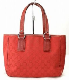 Gucci Monogram Red Tote Bag. Get one of the hottest styles of the season! The Gucci Monogram Red Tote Bag is a top 10 member favorite on Tradesy. Save on yours before they're sold out!