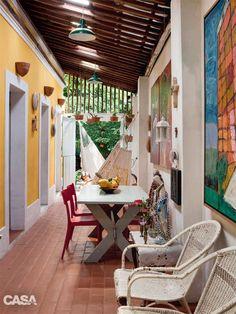 No Recife, um artista abre sua colorida casa centenária - Casa