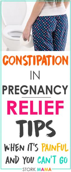 Constipation In pregnancy is awful. It makes you feel bloated, uncomfortable and can be painful. Read my tips on how to relieve constipation during pregnancy. You'll find natural constipation relief and advice on medications to treat constipation when pregnant. You can also use these tips to avoid constipation during pregnancy. Stork Mama