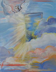 Prophetic Art Painting - Open Door From Heaven by Patricia Kimsey Bollinger