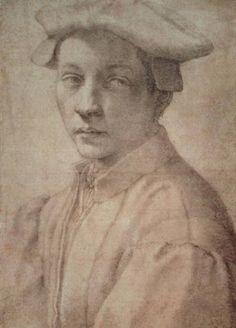 Bild: Michelangelo (Buonarroti) - Portrait Study of a Young Boy