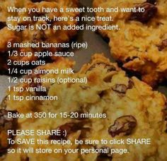 Healthy bake. No flour. No added sugar.