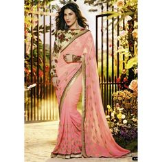 Amusing Georgette Embroidered Work Festive Wear & Party Wear Saree at just Rs.1020/- on www.vendorvilla.com. Cash on Delivery, Easy Returns, Lowest Price.