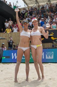 Kerri Walsh Jennings and April Ross win the 2016 AVP Huntington Beach Open!