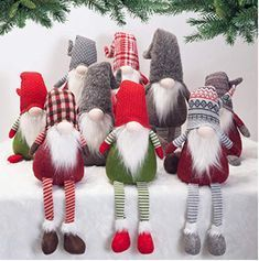 GMOEGEFT Scandinavian Christmas Gnome Plush, Swedish Tomte, Nordic Santa Gnome, Holiday Home Decoration Birthday Gift, 17 Inches (Red and Green Sit) Christmas Sewing Patterns, Sewing Patterns Free, Free Sewing, Sewing Tutorials, Sewing Tips, Sewing Hacks, Etsy Christmas, Handmade Christmas, Christmas Knomes