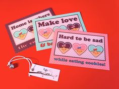 Set di 3 cartoline  I LOVE COOKIES di zolushka65 su Etsy