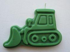 Construction Party- Bulldozer Birthday Candle