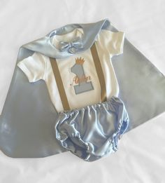 Personalised Baby Boy 1st Birthday Outfit Light Blue Little