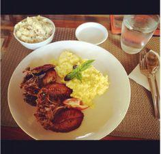 Breakfast!!! Citrus Marinated Air Dried Lamayo w/ Garlic Rice! Sarap ng Pinoy Food!