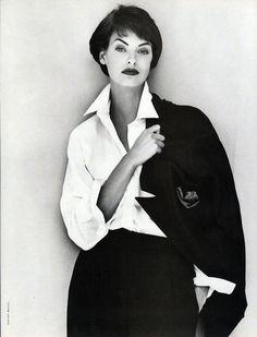 Linda Evangelista   Photography by Steven Meisel   For Vogue Magazine Italy   September 1991