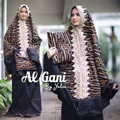 Mukena Batik Sogan Motif Lurik Ori by AlGani