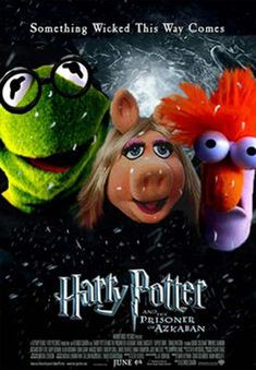 Kermit And Miss Piggy, Kermit The Frog, Jim Henson, Die Muppets, Old Movie Posters, Harry Potter Pictures, Harry Potter Film, The Dark Crystal, Cartoon Crossovers