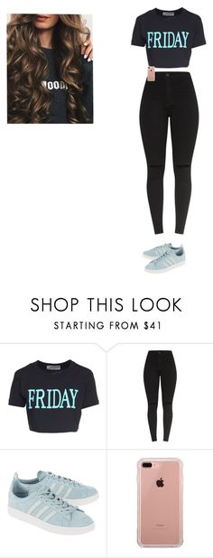 """""""Untitled #543"""" by alannahholmes ❤ liked on Polyvore featuring Alberta Ferretti, adidas Originals, Belkin, cute, Blue and friday"""