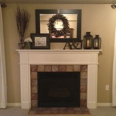 Love This For The Fireplace Mantel Mantle Decorations Fire Place Decor