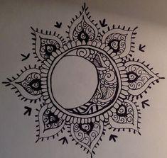 Sun and moon, forever in love mandala tattoo mandala sun tattoo, tattoo sun, Tattoo Mond, 1 Tattoo, Tattoo Drawings, Sun Henna Tattoo, Tribal Moon Tattoo, Henna Tattoo Shoulder, Tribal Sun, Shiva Tattoo, Chest Tattoo