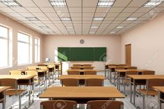 Find Modern Classroom Interior Light Tones stock images in HD and millions of other royalty-free stock photos, illustrations and vectors in the Shutterstock collection. Modern Classroom, Classroom Design, School Building Design, School Design, Classroom Architecture, Architecture Design, School Hallways, School Furniture, Vietnam