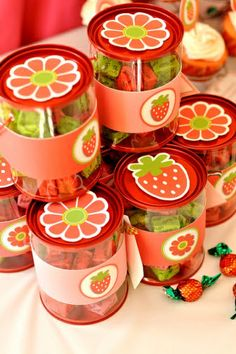 Strawberry Birthday Party Favors Ideas