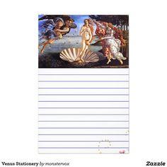 Venus Stationery #Venus #Art #Vintage #Women #Men #Teens #Kids #Children #LetterHead #Stationery