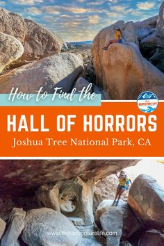 How to find the secret hall in the Hall of Horrors in Joshua Tree National Park, California, by That Adventure Life. A mini slot canyon that is hidden between big boulders. A rock scrambling outdoor adventure. Adventure travel inspiration for your next US roadtrip or day trip to the National Park of Southern California. Read all the details here!