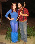 Paul Bunyan and Babe the Blue Ox Costume  @Brooke Baird Baird Sutton this is perfect for you!!!