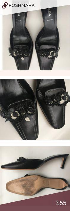 Vintage Prada Kitten Heels Vintage Prada kitten heels. Size 37 1/2    Great Condition. Prada Shoes Heels