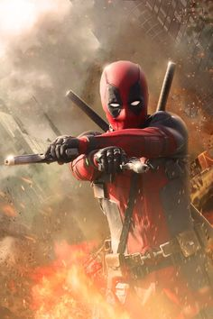 #Deadpool #Fan #Art. (Deadpool Poster Without Texts) By: Muhammedaktunc. (THE * 5 * STÅR * ÅWARD * OF: * AW YEAH, IT'S MAJOR ÅWESOMENESS!!!™) [THANK U 4 PINNING!!!<·><]<©>