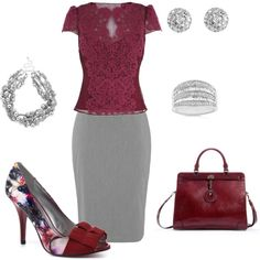 Grey and Lace, created by christa72 on Polyvore