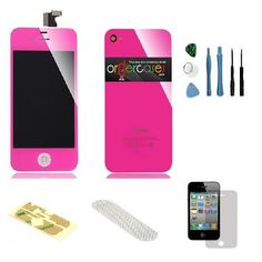 Iphone 4S Complete Color Change Kit (Hot Pink) #http://www.pinterest.com/ordercases/