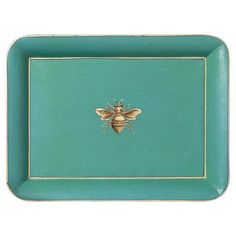 Turquesa Bee Serving Tray -  Turquoise