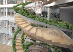 Spiraling Staircase with Vegetation Embedded into Banisters2