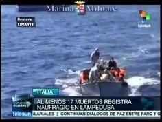 Italia: van 17 inmigrantes muertos tras naufragio en Lampedusa