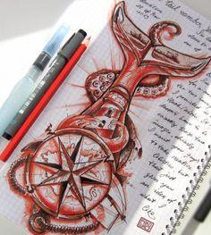 nautical theme - custom tattoo - online